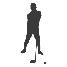 Jugador de golf silueta