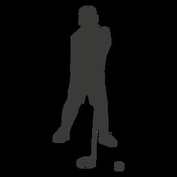 Silhouette Golfspieler