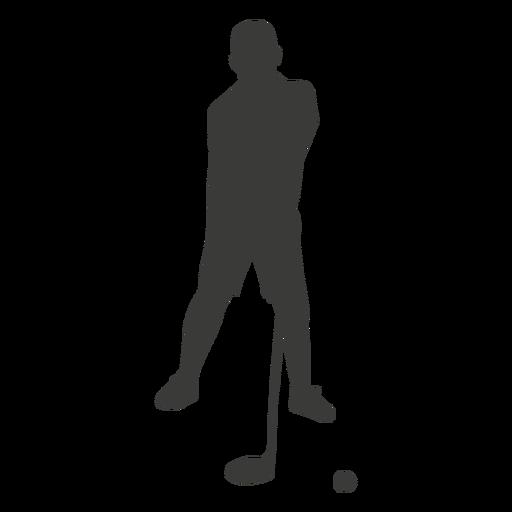 Jogador de golfe de silhueta