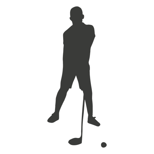 Silhouette golf player Transparent PNG