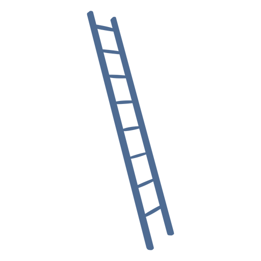 Silhouette ladder simple Transparent PNG