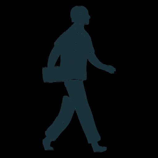 Doctor caminando silueta sonrisa