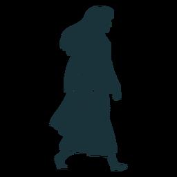 Silhouette walking doctor