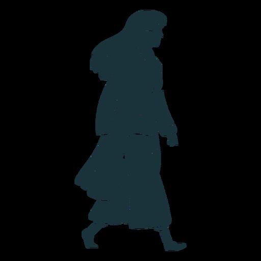 Doctor caminando silueta