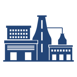 Simple factory building silhouette