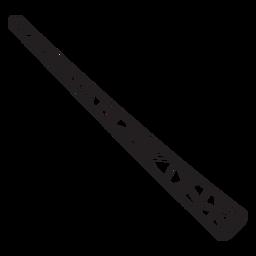 Simple flute stroke