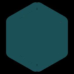 Rótulo hexágono simples