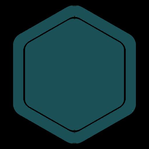 Simple hexagon label Transparent PNG