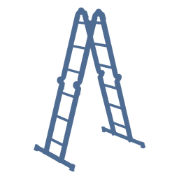 Silueta de escalera simple