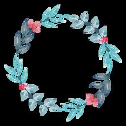 Grinalda de planta aquarela simples