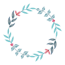 Simple watercolor plant wreath