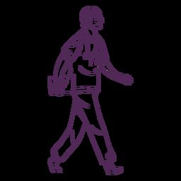 Smile walking doctor hand drawn