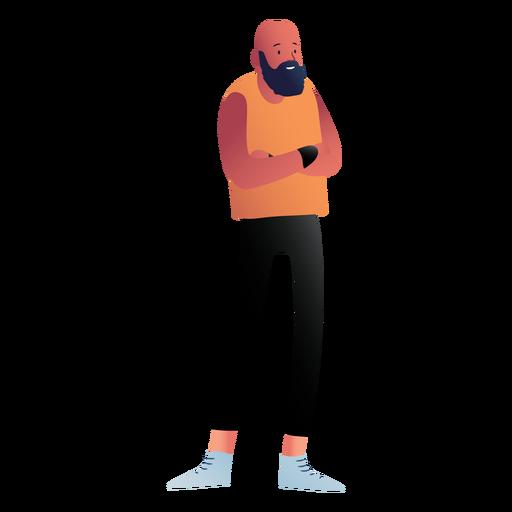 Standing beared man character