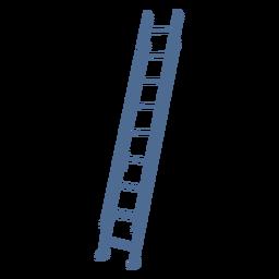 Silueta de escalera recta