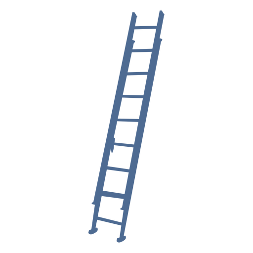 Straight up ladder silhouette