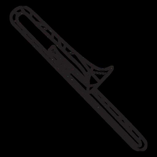 Stroke low poly trombone