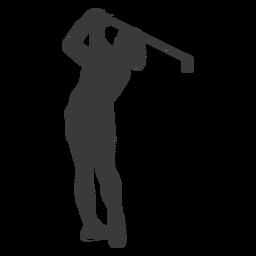Silueta de jugador de golf oscilante
