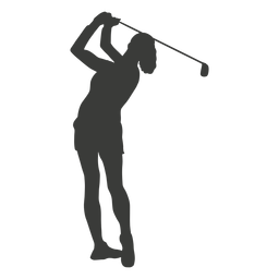 Swinging golf player silhouette