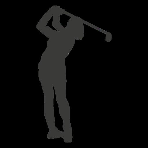 Swinging golf player silhouette
