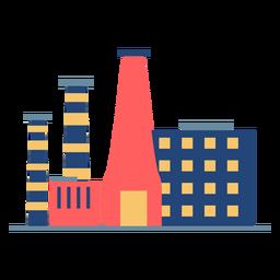 Altos edificios de fábrica coloreados