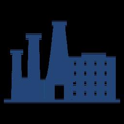 Silueta de edificios altos de fábrica