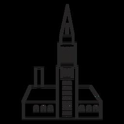 Estructura alta dibujada