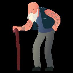 Tätowierter alter Mann Charakter