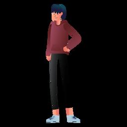 Teenager hoodie character