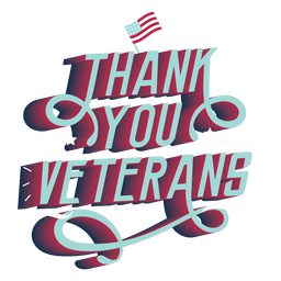 Thank you veterans lettering