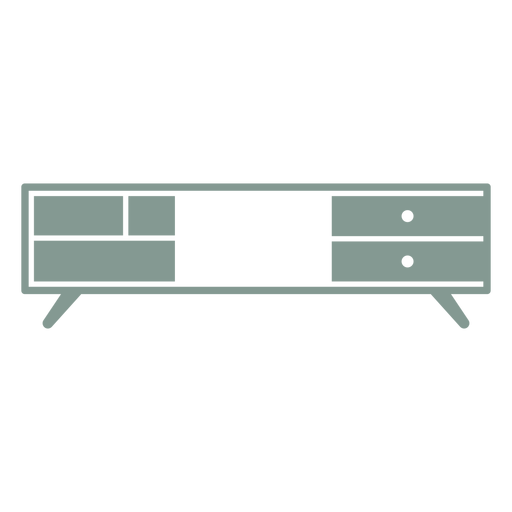 Tv stand silhouette Transparent PNG