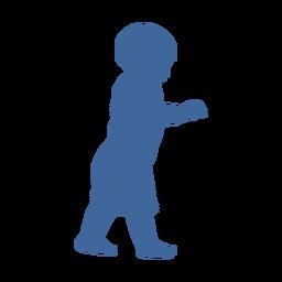 Silhueta de criança caminhando