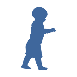 Walking child silhouette