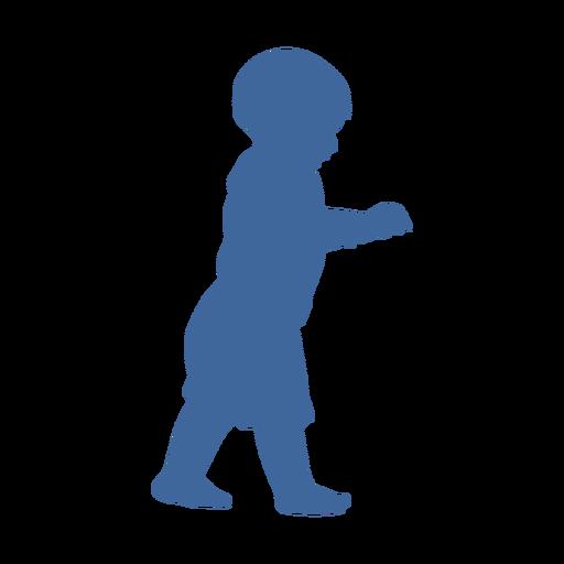 Silueta de niño caminando