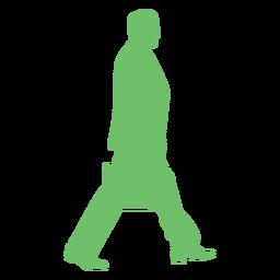 Silueta de bolso de hombre caminando