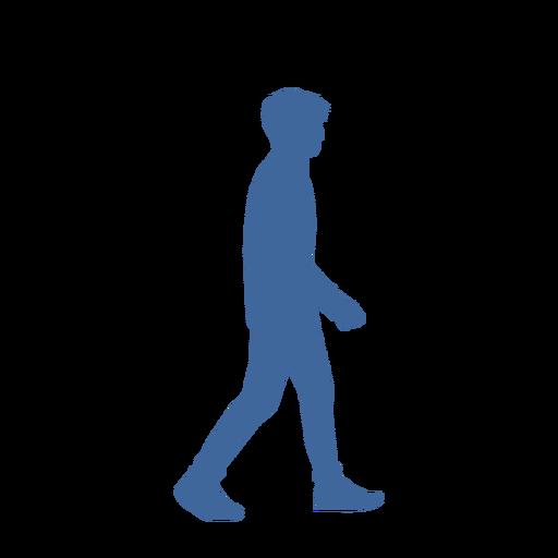 Walking man side view silhouette