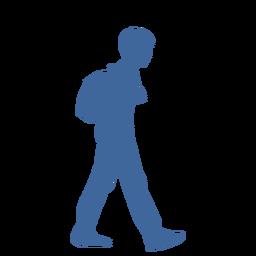 Homem andando com silhueta de saco
