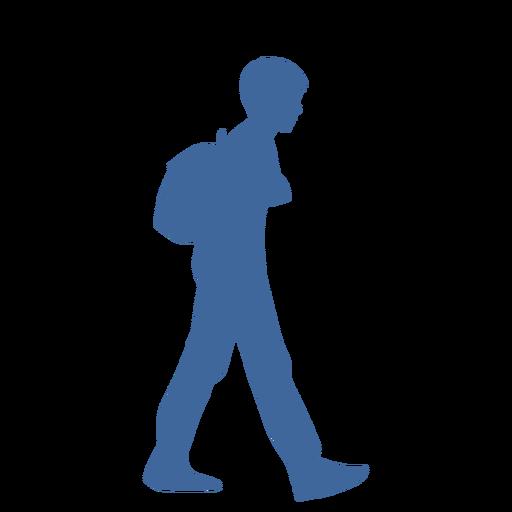 Hombre caminando con silueta de bolsa