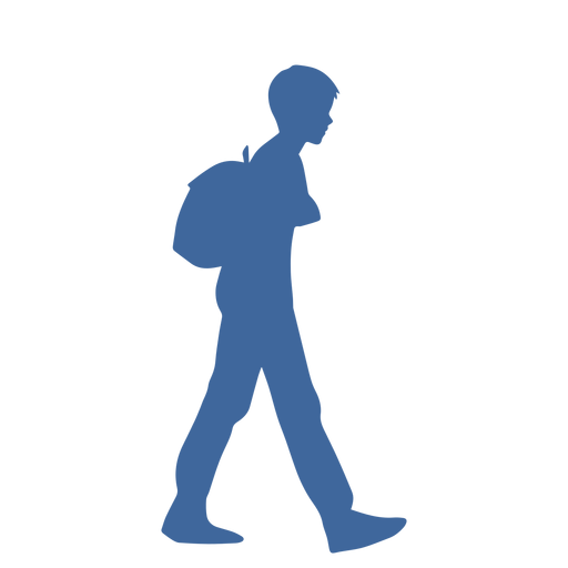 Walking man with bag silhouette Transparent PNG