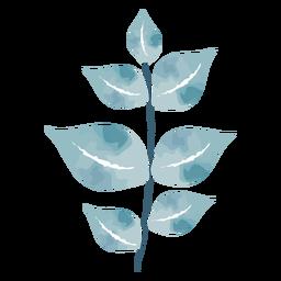 Watercolor cute leaves