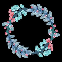 Guirnalda de plantas acuarela
