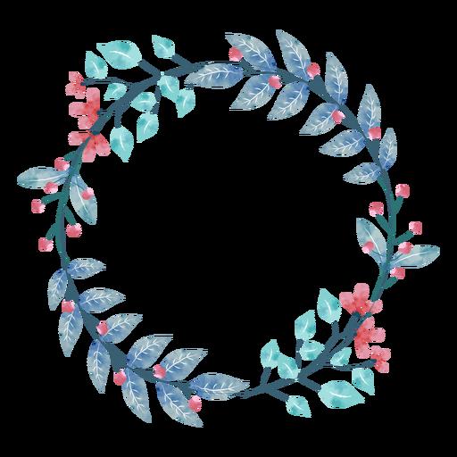 Watercolor plant wreath