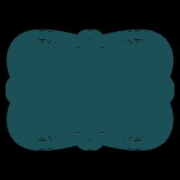 Etiqueta de rectángulo ondulado