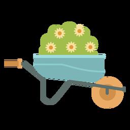 Carretilla planta jardinería