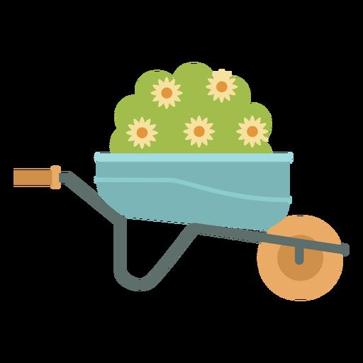 Jardinagem de plantas de carrinho de mão