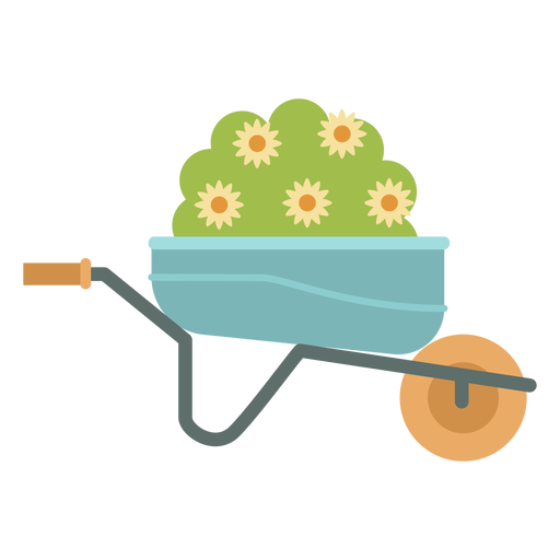 Wheelbarrow plant gardening Transparent PNG