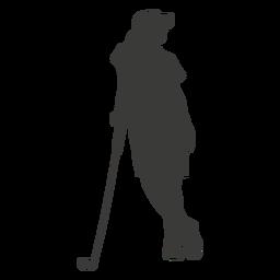 Silhueta de mulher de golfe