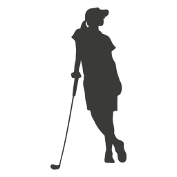 Silhueta de mulher golfe