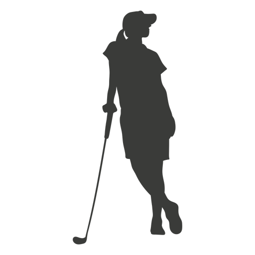 Silhueta de mulher golfe Transparent PNG