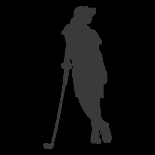 Silueta de mujer golf Transparent PNG