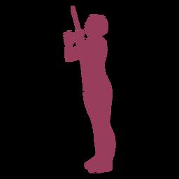 Silueta de conductor de orquesta lateral de mujer